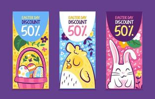 3 Pack of Fun Banners for Easter Day vector