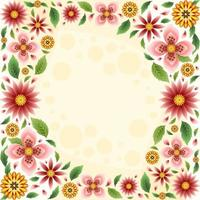 Colorful and Beautiful Spring Floral Background vector
