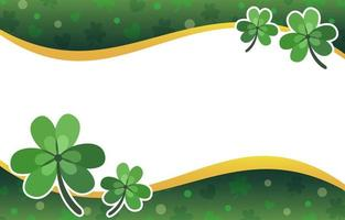 Flat Clover with Leaves Background