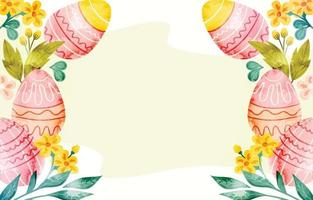 Watercolor Easter Eggs Background vector