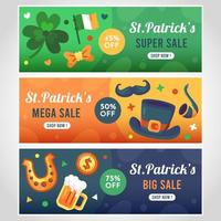 St.Patrick's sale banner collections vector