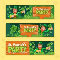 Leprechaun The Party Banner vector