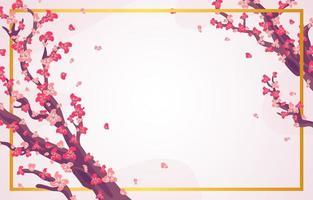 Cherry blossom tree background vector