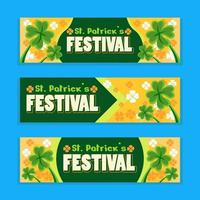 banner de festival simple día de san patricio vector