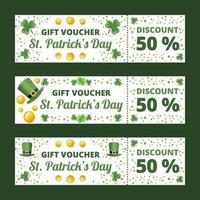 St Patricks Day Gift Voucher Set vector