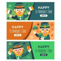 St.Patrick's day banner collections vector