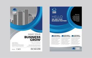 folleto de negocios moderno gris blanco azul vector