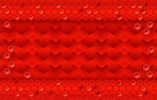 Red Background With Honeycomb vector