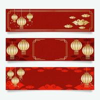 Chinese New Year Banners vector