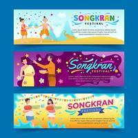 Banners of Songkran Festival vector