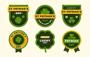 S t. colección de insignias del día de patrick vector