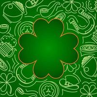 Outline Objects of Leprechaun's Attributes for Saint Patrick's Day vector