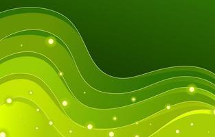 Fondo de onda dinámica tranquila verde con colores degradados vector