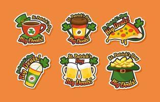 St Patricks Day Marketing Sticker vector