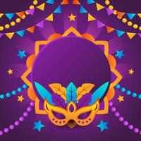 Colorful Mardi Gras Background vector