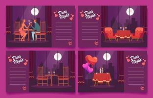 Dinner Date on Valentine Day vector
