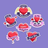 Valentine Sticker Collection vector