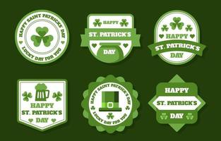 St Patrick's Day Label Collection vector