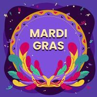 Mardi Gras Mask Background vector