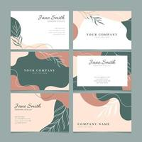 Beautiful Abstract Floral Business Card Collection