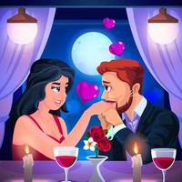 Romantic Valentine Dating illustration vector