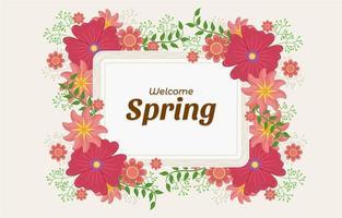 Floral Red Flower Spring Background vector