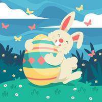 Easter Rabbit Holding Egg