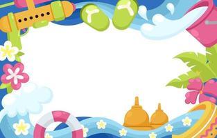Colorful Border of Songkran Festival vector