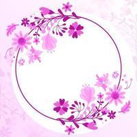Border Flower Background vector
