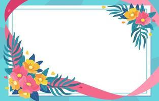 concepto de marco floral de primavera vector