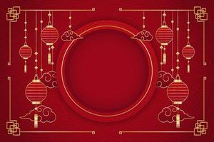 Chinese New Year Red Background vector