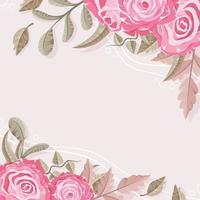 Valentine Flower Background vector