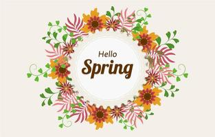 Floral Yellow Flower Spring Background vector