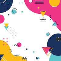Colorful Flat Background with Geometrics Object vector