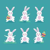 Cute Rabbit Easter Day vector