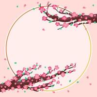 Cherry blossom tree concept vector