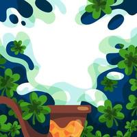 Smoked Clover Background vector