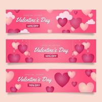 Valentine Marketing Banners vector