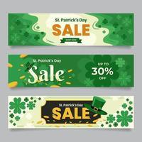 Saint Patrick Sale Banners vector