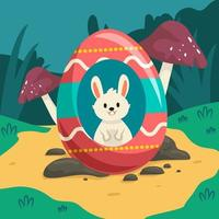 Easter Egg's In Grass vector