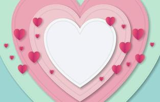 Paper Style Valentine Background vector
