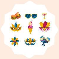 Mardi Gras Mask Festival Icon vector