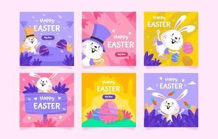 Happy Cute Little Bunny vector