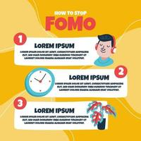 Stop FOMO infographic vector