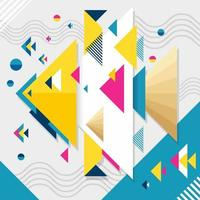 Abstract Fish Geometric Concept vector