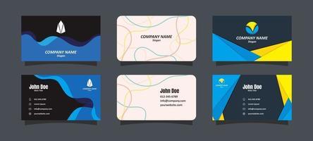 plantillas de tarjetas de visita vector