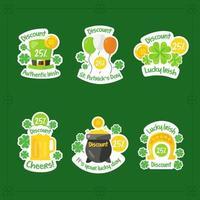 St. Patrick's Day Sticker Set vector