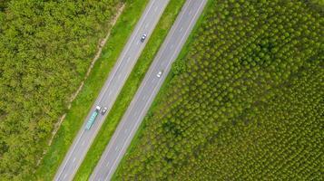 Vehicles on roads photo