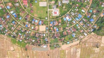 vista aérea de las casas en un círculo. foto