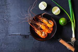Top view of shrimp